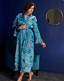 Joanna Hope Botanical Frill Robe 50in