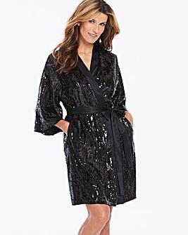 Jo Hope Sequined Velvet Kimono