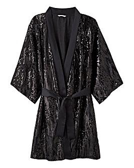 Joanna Hope Sequined Velvet Kimono