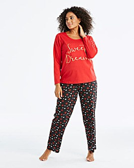 Pretty Secrets Long Sleeve Red PJ Set