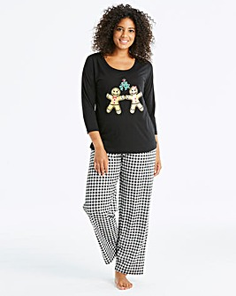 Pretty Secrets 3/4Sleeve Black PyjamaSet