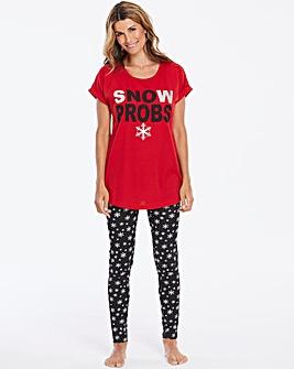 Pretty Secrets Snow Probs Legging Set