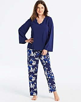 Pretty Secrets Long Flute Sleeve PJ Set