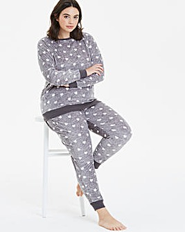 Pretty Secrets Heart Print Fleece Twosie