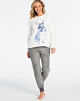 Pretty Secrets Bunny Fleece Cuff PJ Set