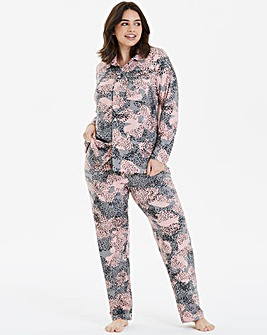 Fever Animal Button Through PJ Set