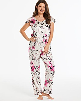Pretty Secrets Frill Satin Pyjama Set