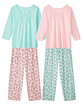 Pretty Secrets 2pk 3/4 Sleeve PJ Sets