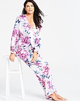2757b36519 Joanna Hope Floral Satin Pj Set