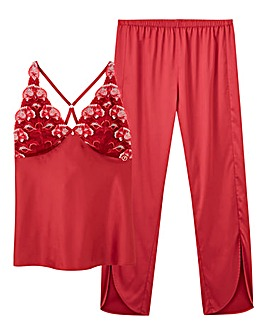 Joanna Hope Satin Pyjama Set