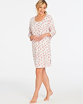 Pretty Secrets 3/4 Sleeve Nightie 36in