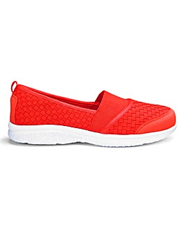 Lightweight Slip On Interweave Leisure Shoes Wide E Fit
