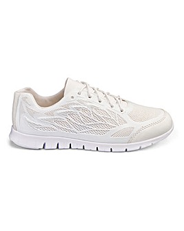 Heavenly Soles Lace Up Leisure Shoes Wide E Fit
