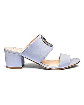 Suede Mules With Trim Detail E Fit
