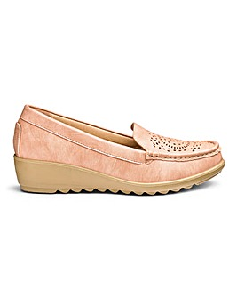 Cushion Walk Wedge Loafers Extra Wide EEE Fit