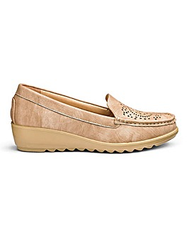 Cushion Walk Wedge Loafers Wide E Fit