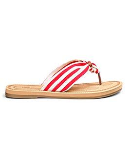 Cushion Walk Lightweight Toe Post Mule Sandals Wide E Fit