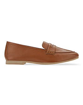 Soft Leather Loafers Wide E Fit
