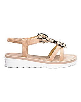Cushion Walk Flower Sandals E Fit