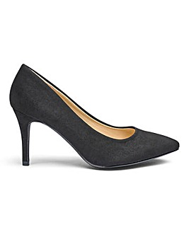 Pointed Toe Court Shoes Standard D Fit