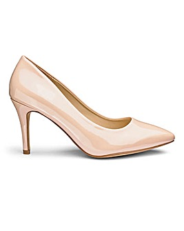 Pointed Toe Court Shoes E Fit