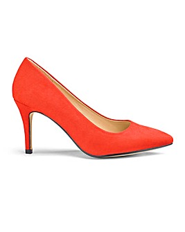 Pointed Toe Court Shoes Wide E Fit
