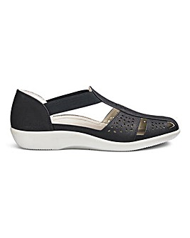 Cushion Walk Lightweight Punch Detail Shoes Wide E Fit