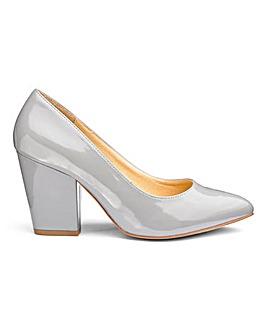 Block Heel Court Shoes EEE Fit