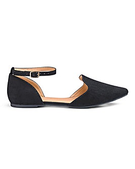 Heavenly Soles Two Part Shoes Wide E Fit