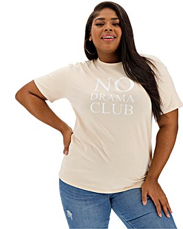 Lasula No Drama Club Slogan Tshirt