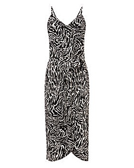 Oasis Zebra Print Cami Wrap Dress