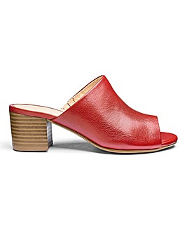 Slip On Leather Mules E Fit