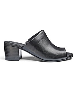 Slip On Leather Mules EEE Fit