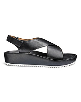 Soft Leather Crossover Sandals E Fit