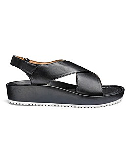 Soft Leather Crossover Sandals EEE Fit