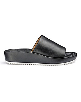 Soft Leather Slider Mule Sandals Wide E Fit