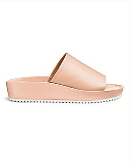 Soft Leather Mule Sandals E Fit