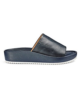 Soft Leather Slider Mule Sandals Extra Wide EEE Fit