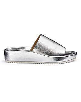Soft Leather Mule Sandals EEE Fit