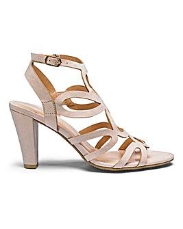 Flexi Sole Caged Heel Sandals Standard D Fit