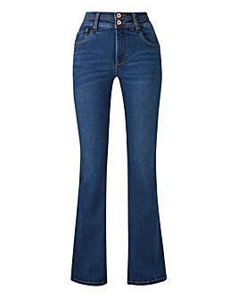 Mid Blue Shape & Sculpt Bootcut Jeans