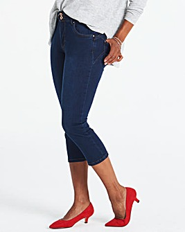 Indigo Shape & Sculpt Cropped Jeans