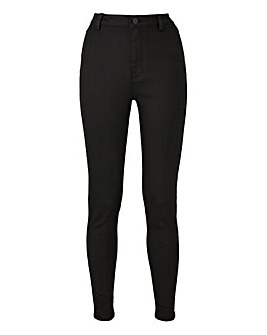 Black Sophia Fly Front Jeggings