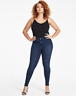 Indigo Sophia Fly Front Jeggings Long