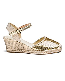Sequin Wedge Espadrilles EEE Fit