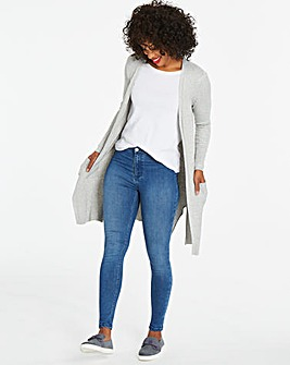 Mid Blue Sophia Fly Front Jeggings