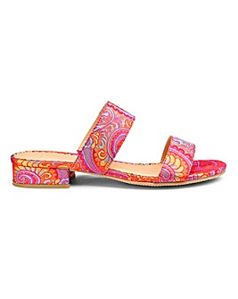 Pink/Orange Flexi Sole Sandals E Fit