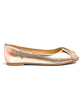 Peep Toe Ballerina Shoes E Fit