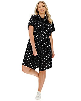 Junarose Tracy Polka Dot Shirt Dress