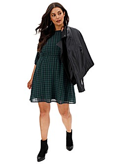 Junarose Check Skater Dress